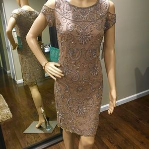Mocha prelude shift sequins dress size 4